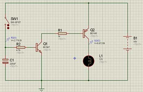 Работа схемы в Proteus: