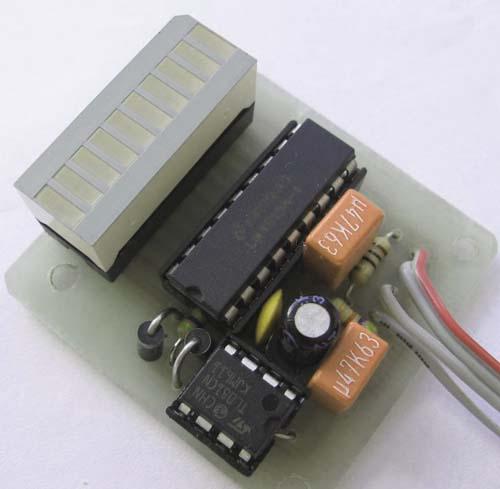 Индикатор уровня звукового сигнала на светодиодах