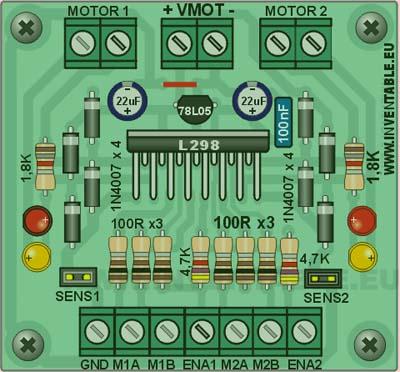L298 – полная версия плата