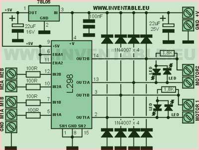L298 – упрощенный вариант схема