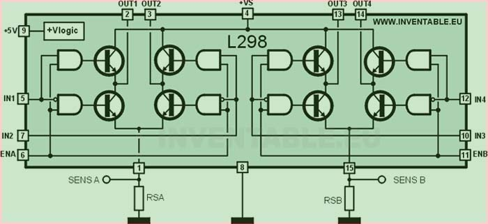 блок схема L298