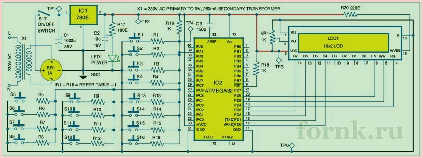sopryazhenie-odnoprovodnoj-matricy-klaviatury-4x4-2