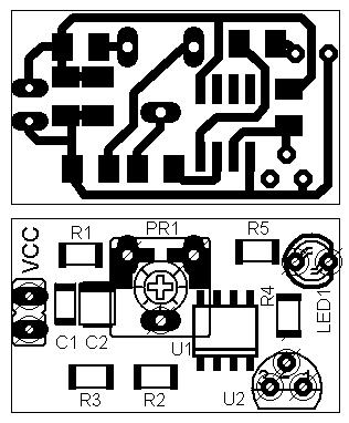 Простой индикатор разряда аккумулятора - таблица
