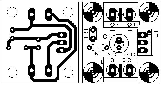 Регулятор скорости вентилятора на TDA1151 - плата и монтаж