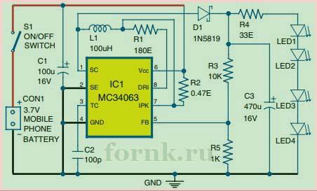 Схема на MC34063