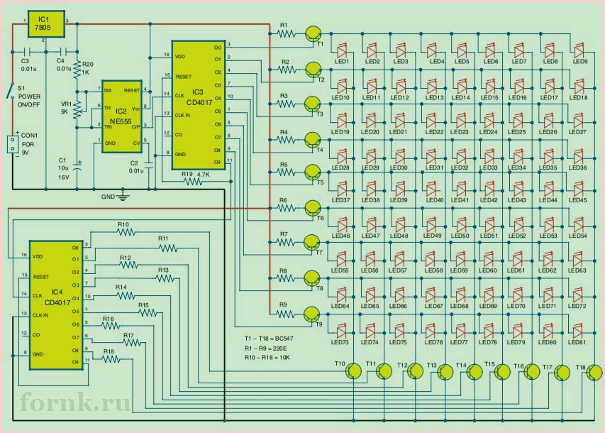 svetodiodnaya-matrica-9x9-na-mikrosxeme-cd4017-1