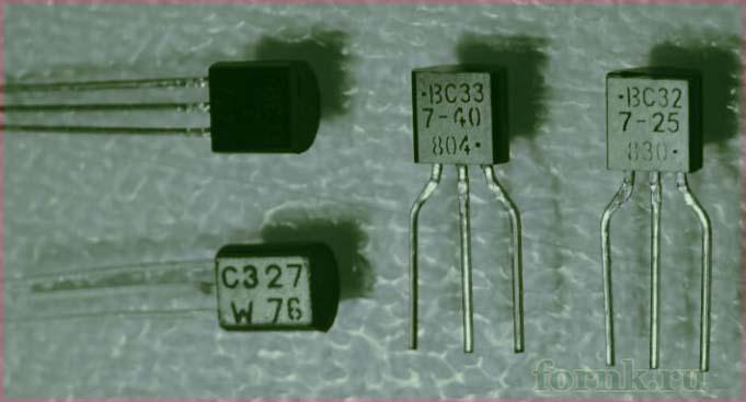Фото транзисторов BC327 и BC337