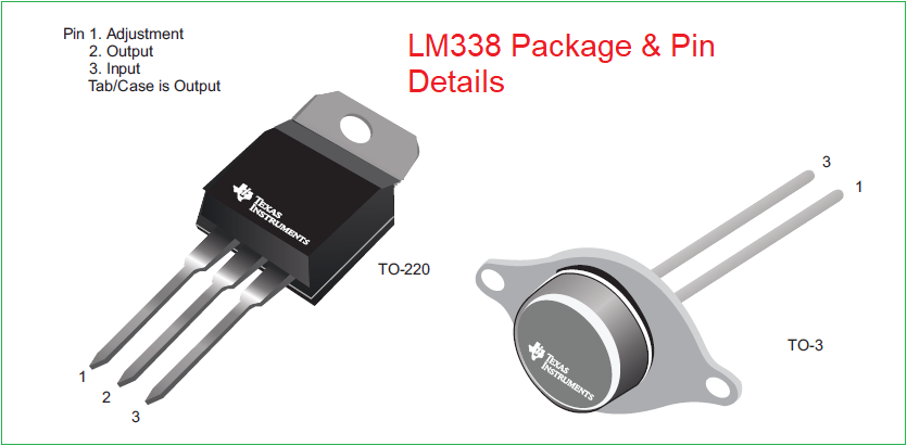 Распиновка LM338