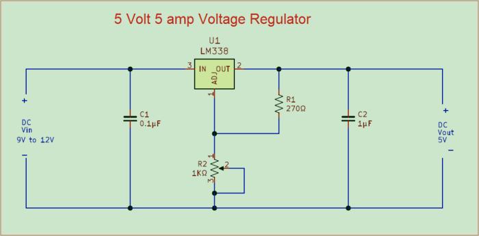 Регулятор напряжения 5 вольт 5 ампер