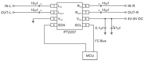подключение PT2257