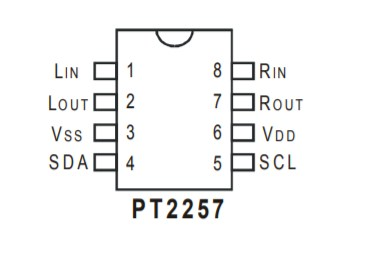 Распиновка PT2257