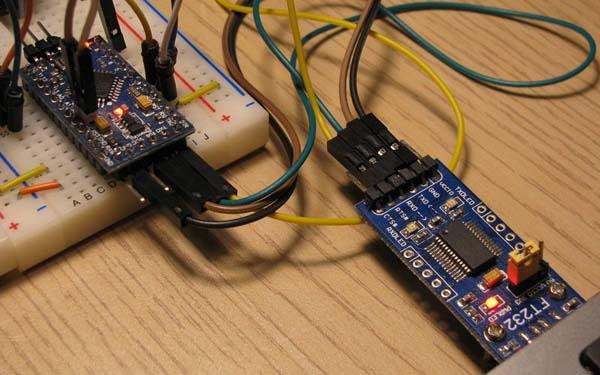 Подключение конвертера к Arduino Mini Pro