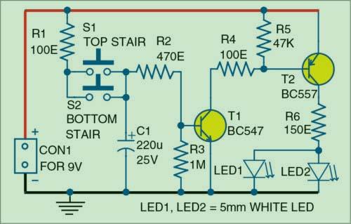 Автомат лестничного освещения на светодиодах