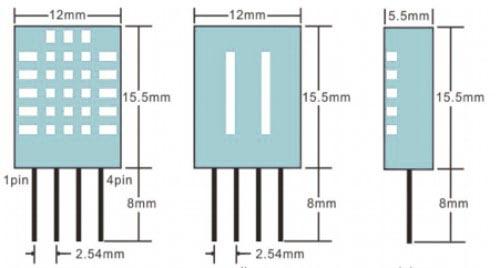 РазмерыDHT11