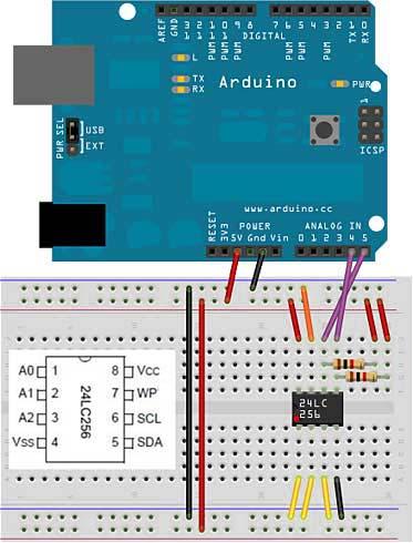 Подключение 24LC256 EEPROM к Ардуино
