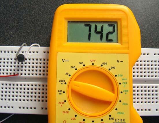 Тестирование аналоговых датчиков температуры 1
