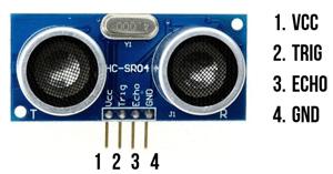 Распиновка модуля HC-SR04