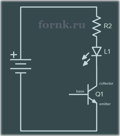 схема на транзисторе