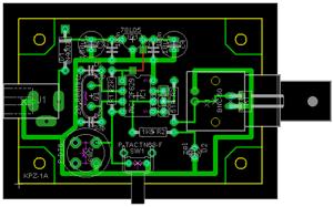 Генератор прямоугольных импульсов частотой 1 Гц - 100 кГц - плата