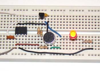 простой переключатель хлопка на PIC12F683