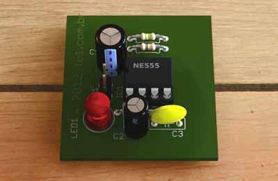 Простой имитатор автомобильной сигнализации на таймере NE555