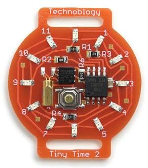 Светодиодные часы Tiny_Time_2 на Attiny85 - внешний вид